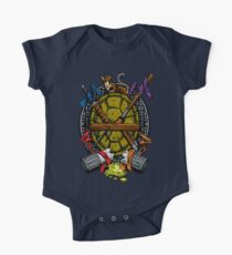 Turtle Family Crest - Full Color Kids Clothes