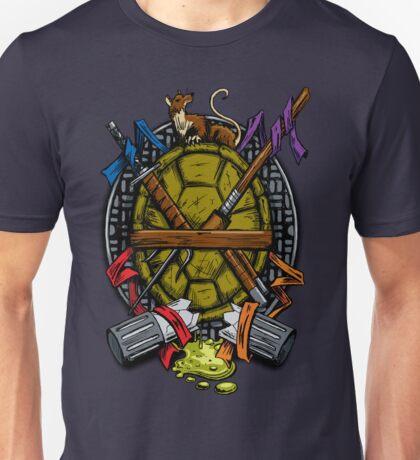 Turtle Family Crest - Full Color Unisex T-Shirt