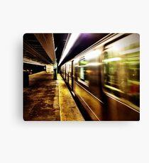 Elevated Subway at Night Canvas Print