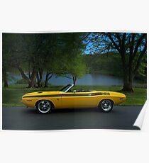1970 Dodge Challenger RT Convertible Poster