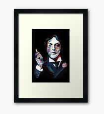 Portrait of OSCAR WILDE Framed Print