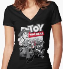 Toy Walkers Women's Fitted V-Neck T-Shirt