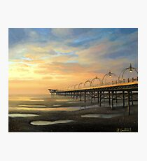 Low-Tide in Southport Photographic Print