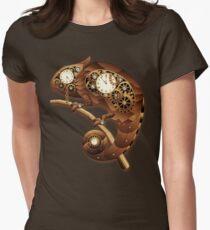Steampunk Chamäleon Vintage-Stil Tailliertes T-Shirt