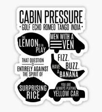 Cabin pressure moments  Sticker