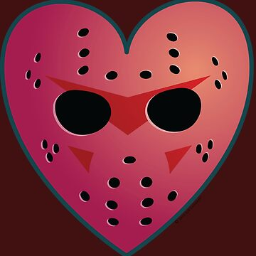 Hockey Mask Heart by alexiares