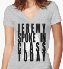 Jeremy in Class Women's Fitted V-Neck T-Shirt