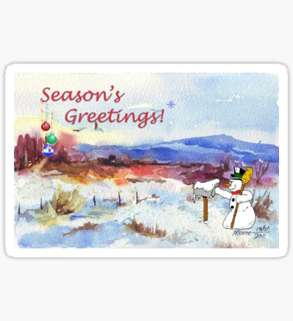 Season's Greetings from me to you! Sticker