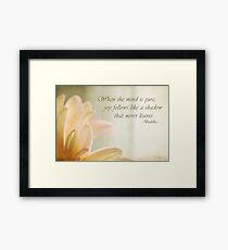 Pure Joy - text Framed Print