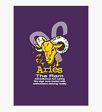 Aries The Ram Photographic Print