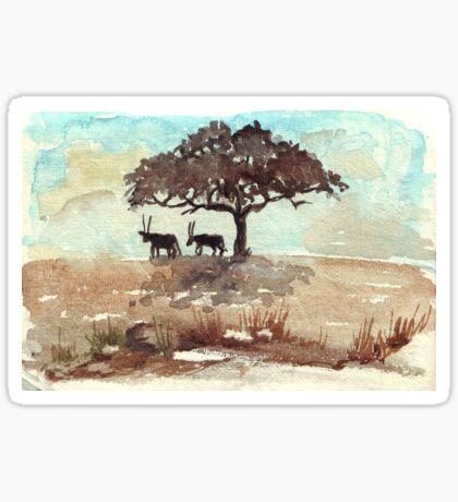 Safari Lodge décor - Gemsbok in the shadows Sticker