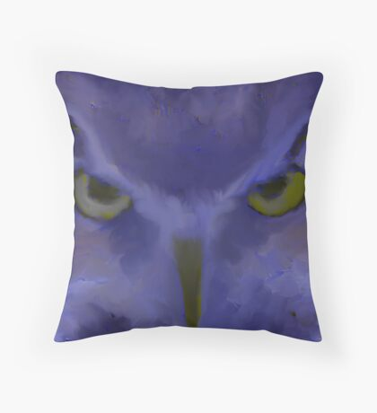 Mr Angry Eyes Throw Pillow
