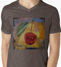 Vintage Cherry Mens V-Neck T-Shirt