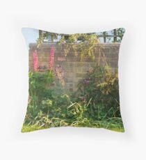 Cottage Garden Wall 34 Throw Pillow