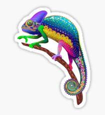 Chameleon Fantasy Rainbow Colors Sticker