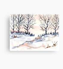 The joy of snow Canvas Print