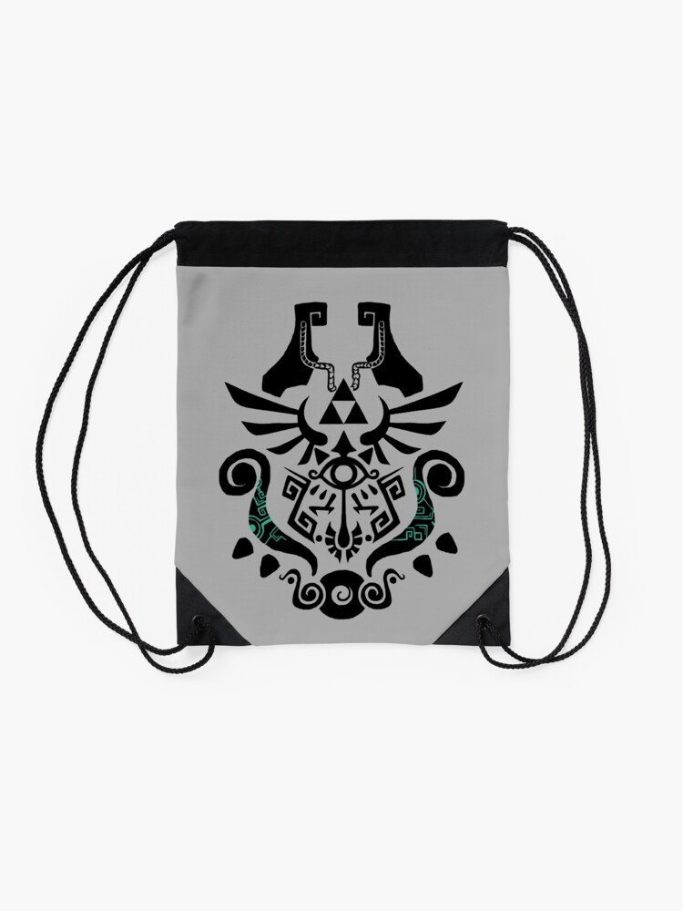 Alternate view of Legend of Zelda (mashup) Drawstring Bag