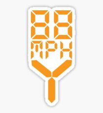 88 MPH The Speed of Time travel Sticker