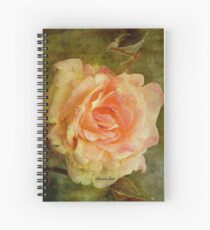 Damaged ~ a Rose with a Message Spiral Notebook