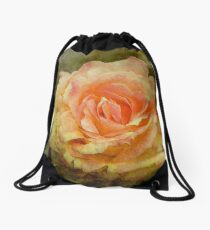 Damaged ~ a Rose with a Message Drawstring Bag