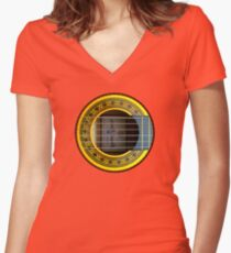Flamenco Guitar by rafi talby Women's Fitted V-Neck T-Shirt
