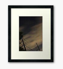 Moody Night Framed Print
