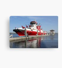 343 ~ FDNY's New Fireboat on Route to New York  Metal Print