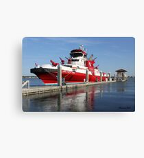 343 ~ FDNY's New Fireboat on Route to New York  Canvas Print