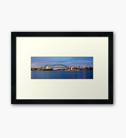 The Other Side - Sydney Panorama Framed Print
