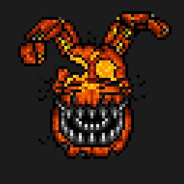 Jack-O-Bonnie - Five Nights at Freddy's 4 Halloween - Pixel art by GEEKsomniac