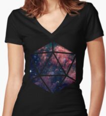 D20 Fairy Dust Women's Fitted V-Neck T-Shirt