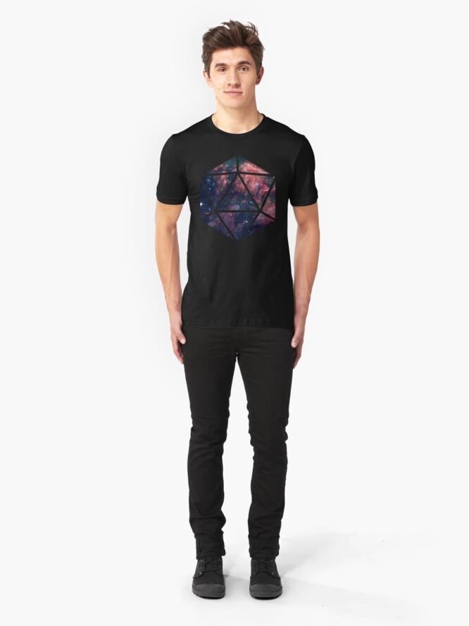 Alternate view of D20 Fairy Dust Slim Fit T-Shirt