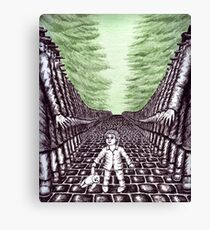 Nightmare surreal pen ink and pencil drawing Canvas Print