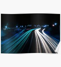 Traffic in Electric Blue Poster