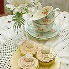 Three Vanilla Cupcakes by Barb Leopold