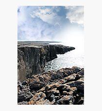 burren cliff edge view Photographic Print