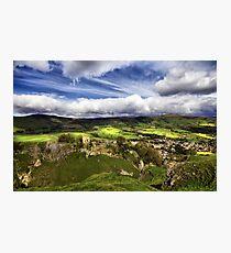 Mam Tor, Peveril Castle, Lose Hill And Castleton Photographic Print