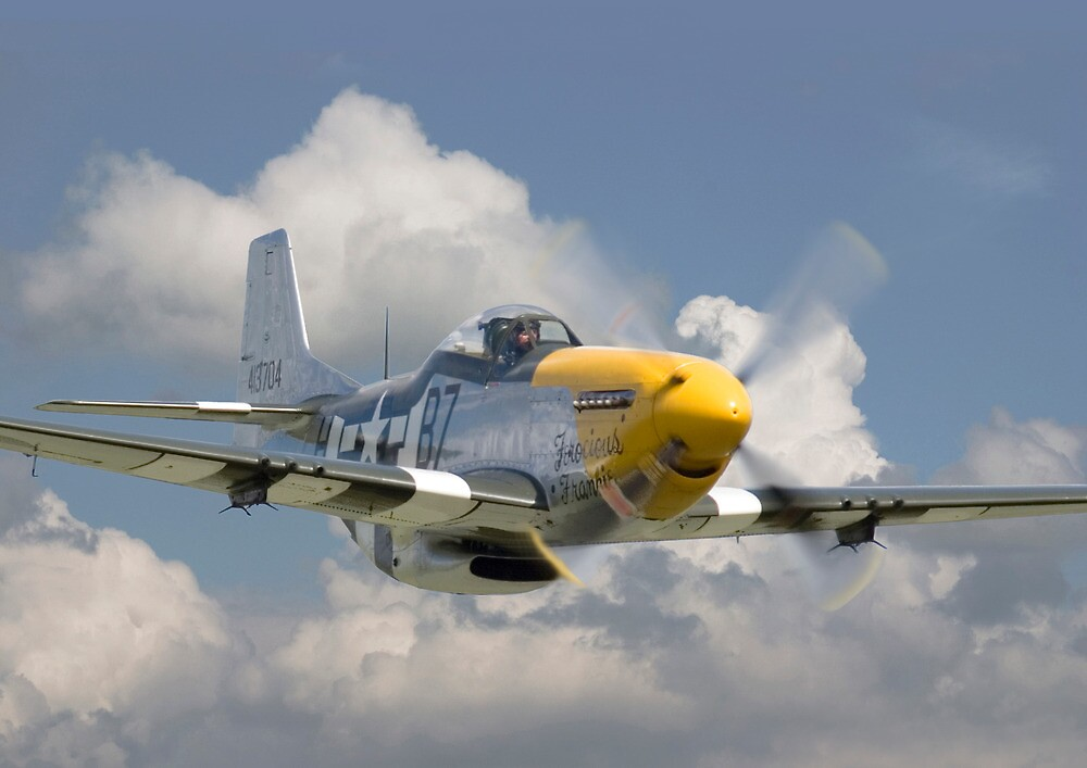 Quot P51d Mustang Comin At Ya Quot By Pat Speirs Redbubble