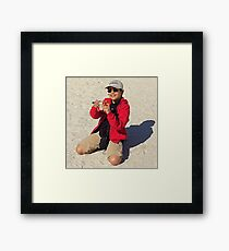 The Dude In Red Framed Print
