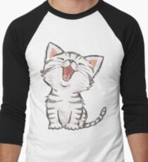 American Shorthair happy Men's Baseball ¾ T-Shirt