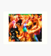 The Zumba Instructor Christmas Party Art Print