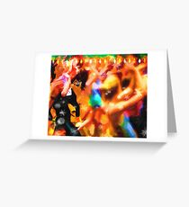 The Zumba Instructor Christmas Party Greeting Card