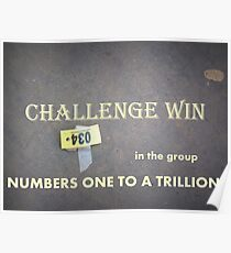 banner challenge win numbers Poster