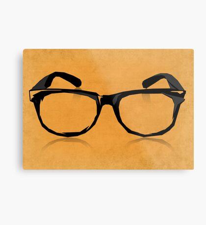 Geek Glasses Metal Print