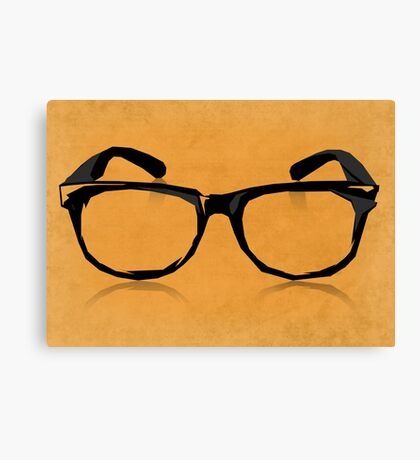 Geek Glasses Canvas Print