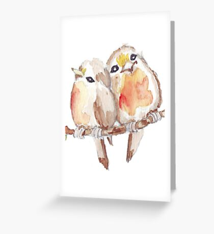 Two Little Birds 2 Greeting Card