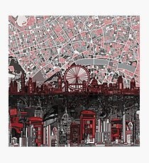 London skyline abstract 4 Photographic Print