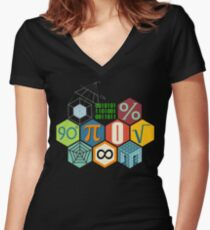 MATH! Women's Fitted V-Neck T-Shirt