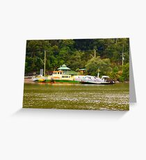 wisemans ferry car barge  Greeting Card