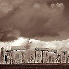 Stonehenge Storm by Mary  Lane